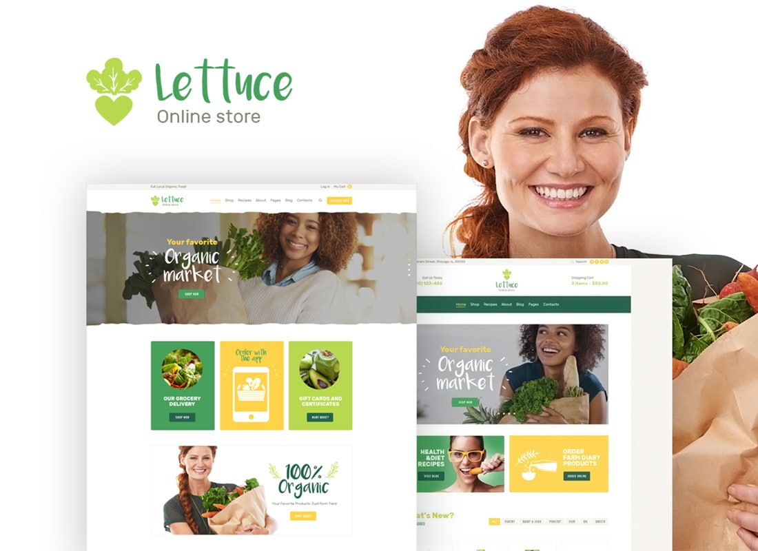 Lettuce | Organic Food & Eco Products WordPress Theme Website Template