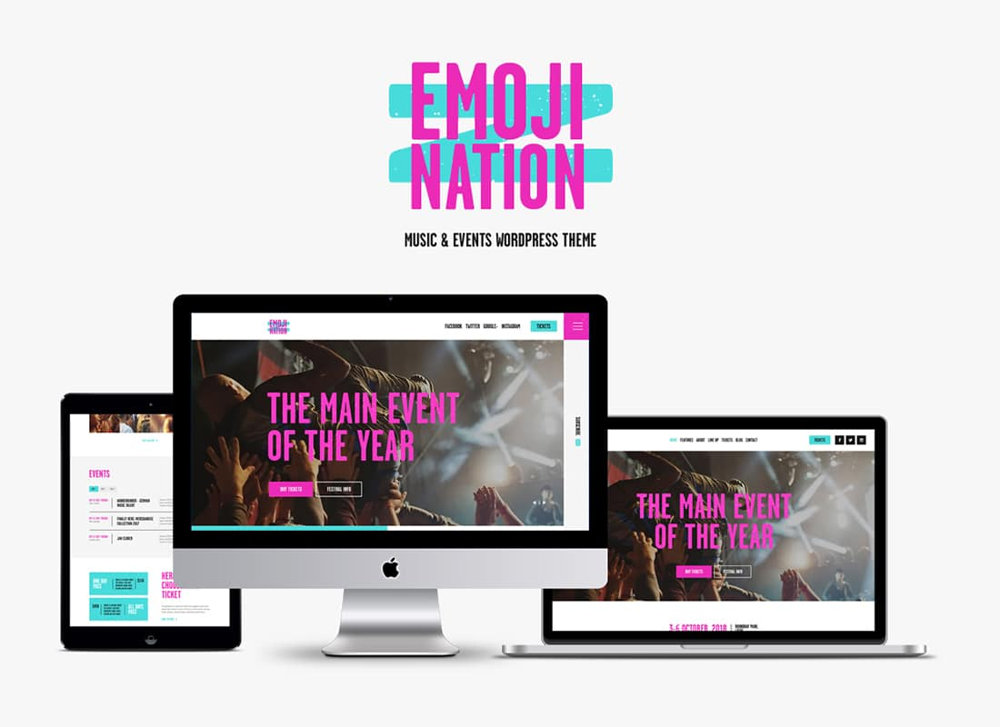 EmojiNation | Night Club & Concert WordPress Theme Website Template