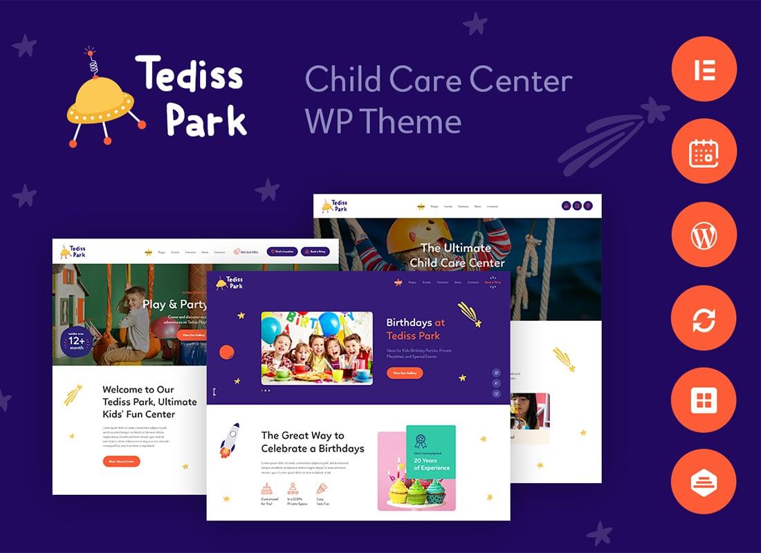 Tediss | Play Area & Child Care Center WordPress Theme Website Template