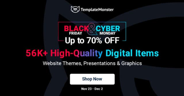 TemplateMonster Black Friday 2020 – Save up to 70% OFF