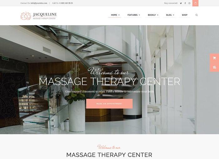 Jacqueline | Spa & Massage Salon Beauty WordPress Theme + Elementor Website Template