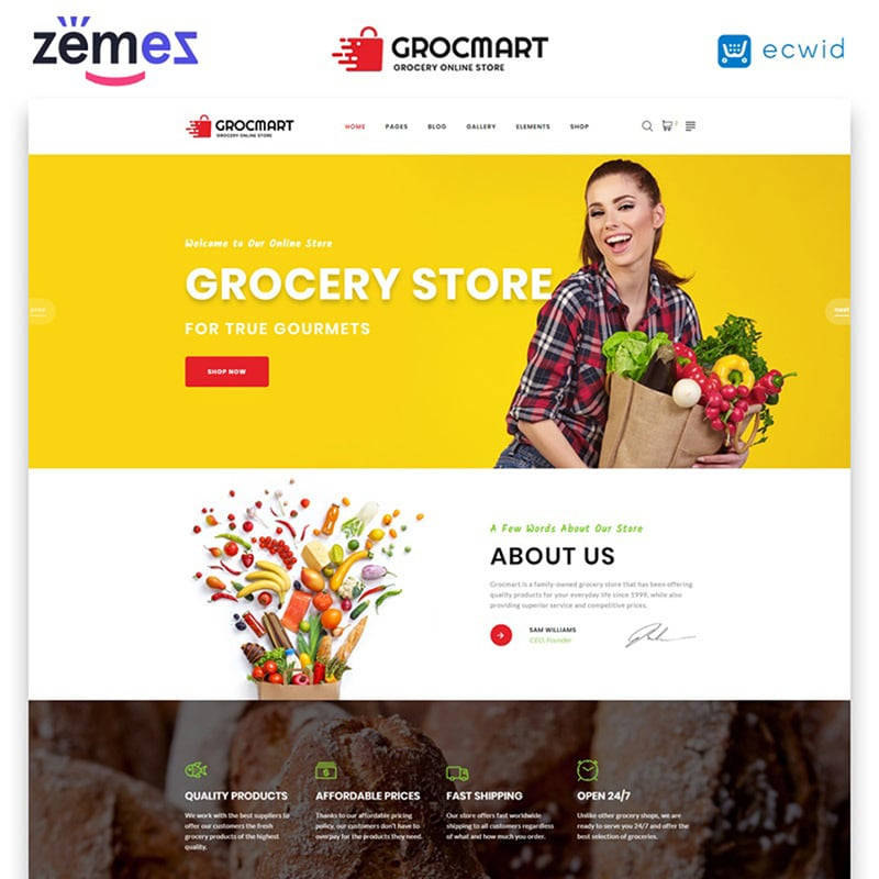 Grocmart Website Template