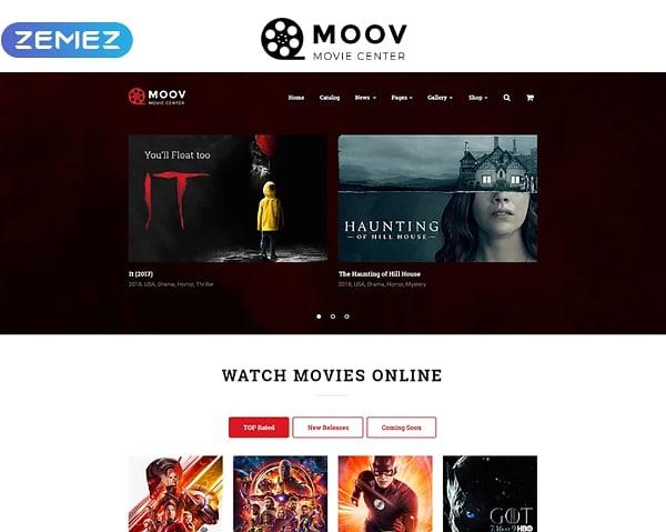 MOOV - Movie Center HTML Website Template Website Template