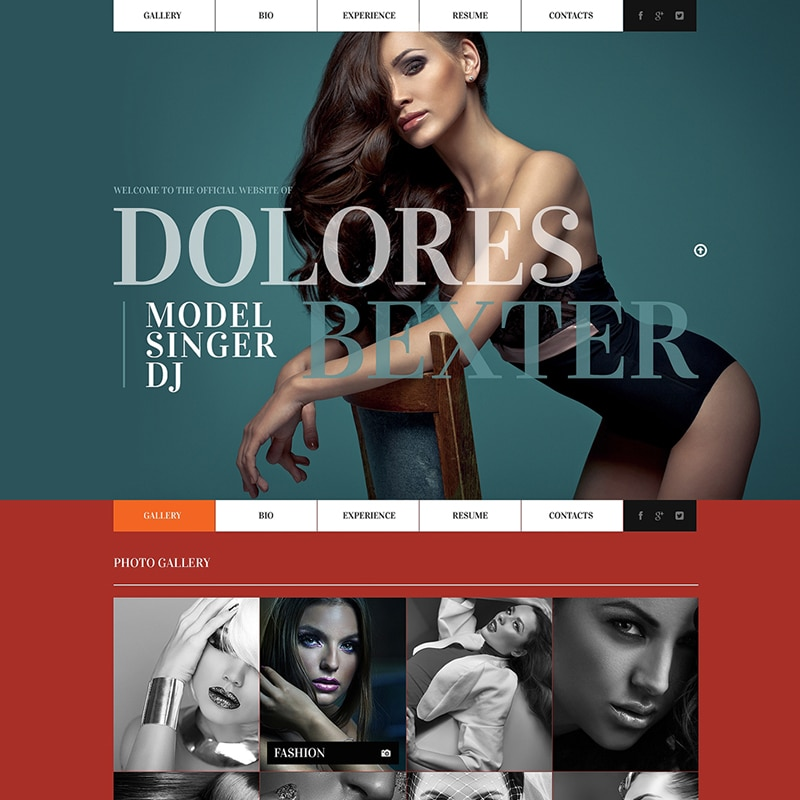 Dolores  Website Template