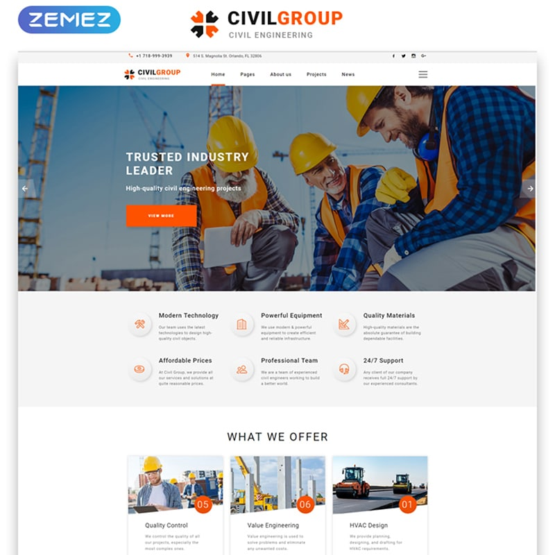 Civil Group Website Template