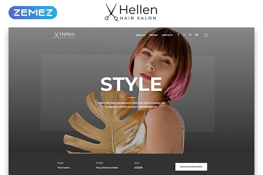 Hellen Website Template