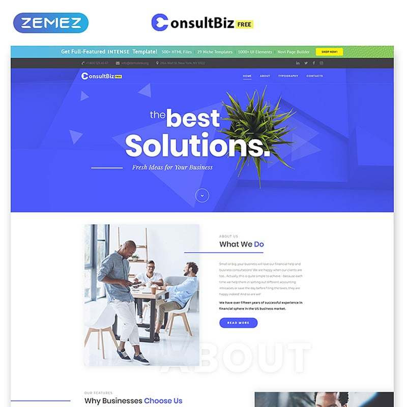ConsultBiz - Free Responsive Corporate Template Website Template