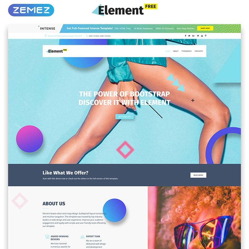 Element Free Website Template