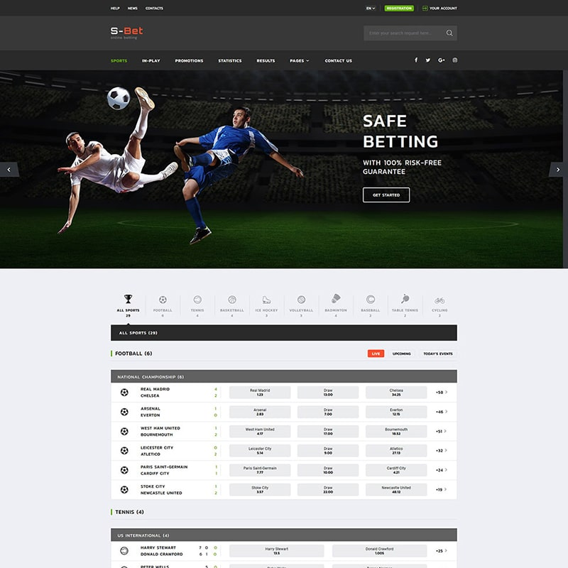 S-Bet Website Template