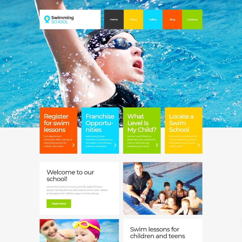 Swimming School Website Template