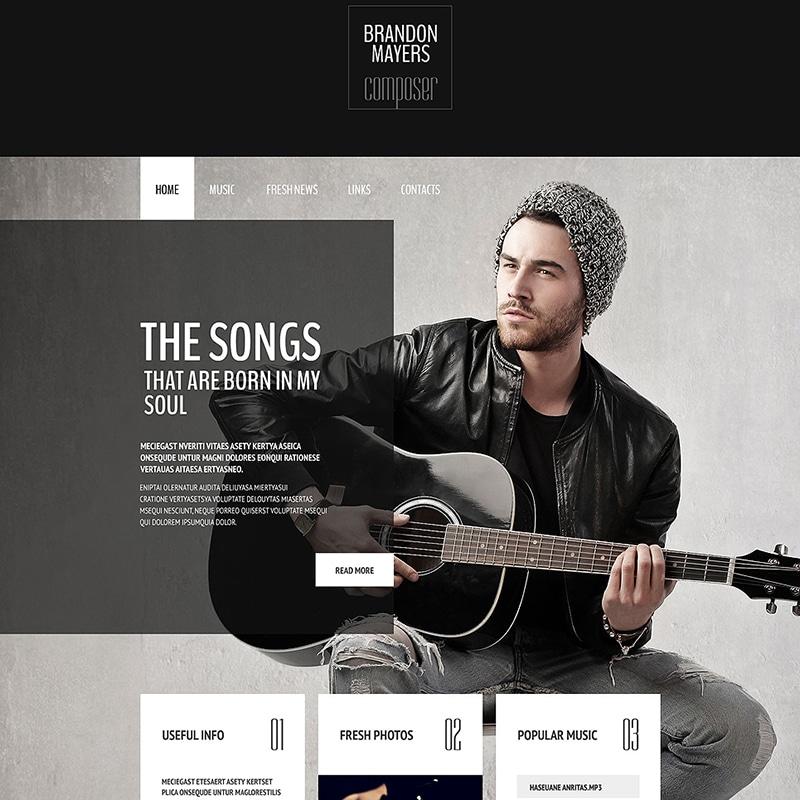 Composer's Portfolio Website Template