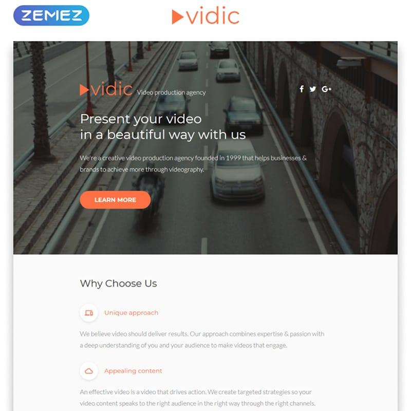 Vidic Website Template