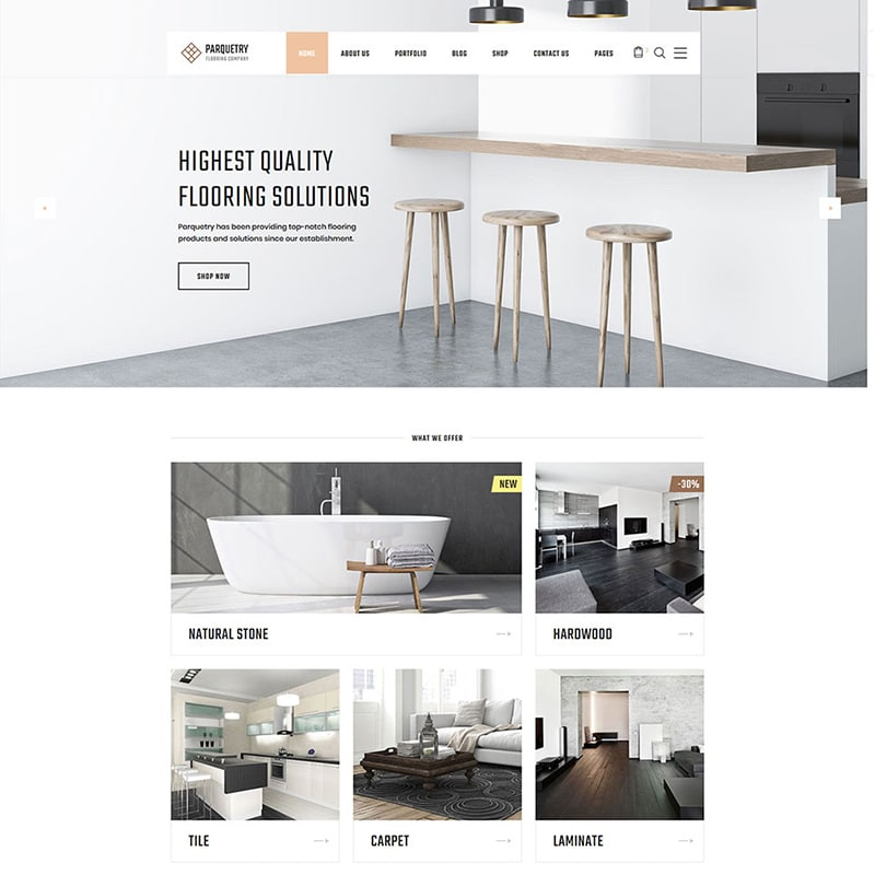 Flooring Multipage HTML Theme Website Template