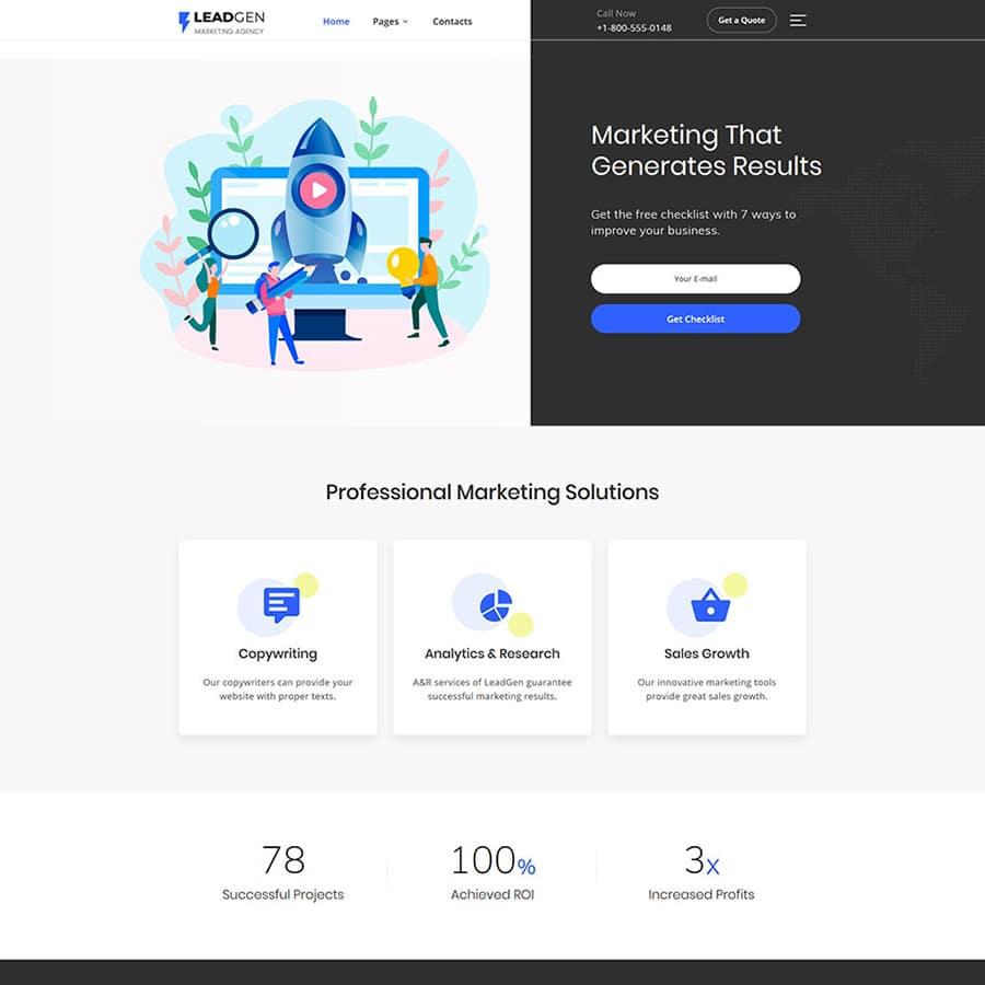 LeadGen Website Template