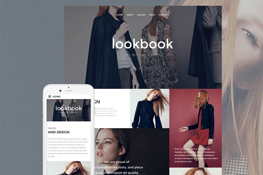 Fashion Responsive Website Template Website Template