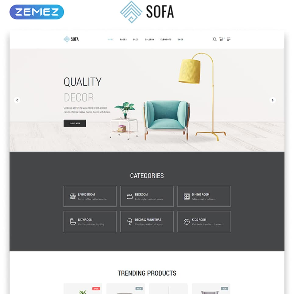Sofa Website Template