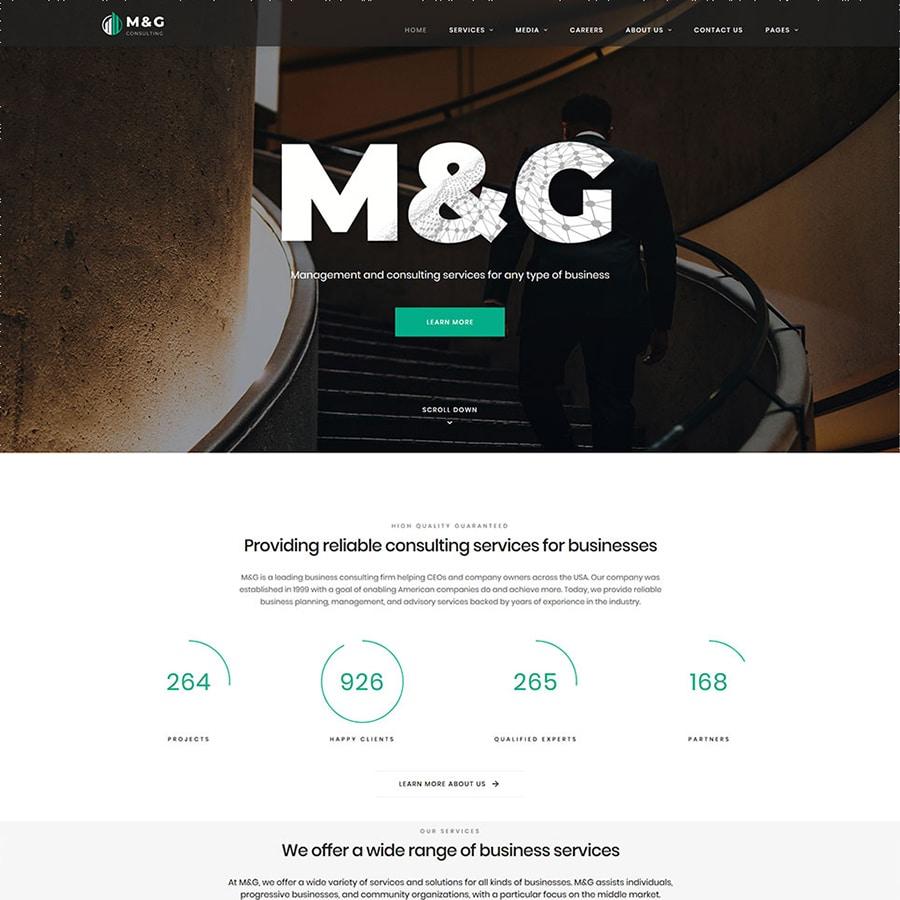 M&G Website Template
