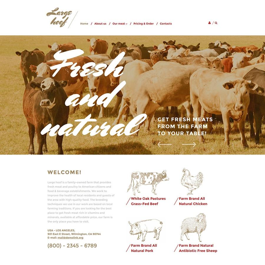Farm Responsive Website Template Website Template