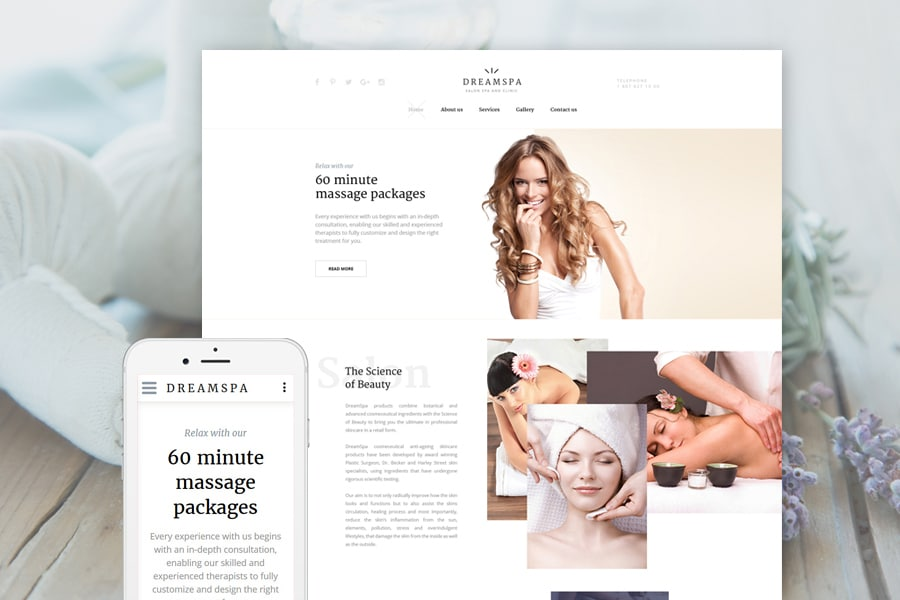 Dream Spa Website Template