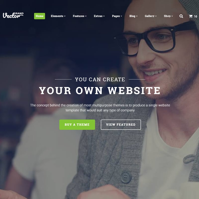 Vector Grand Website Template