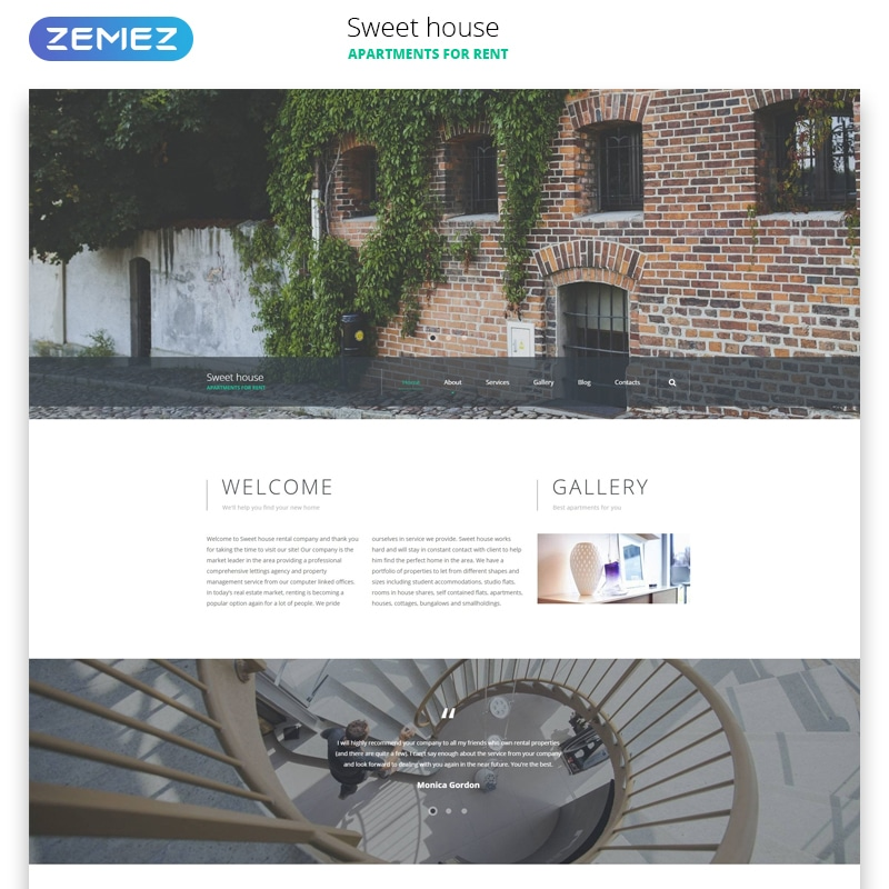 Sweet House Website Template Website Template