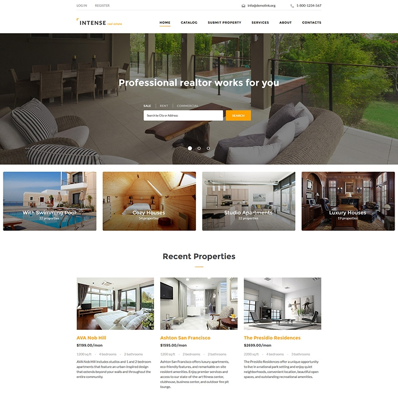Real Estate Template Website Template