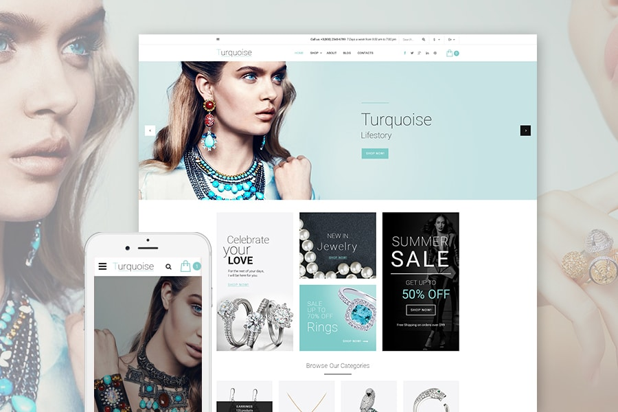 Turquoise Website Template Website Template