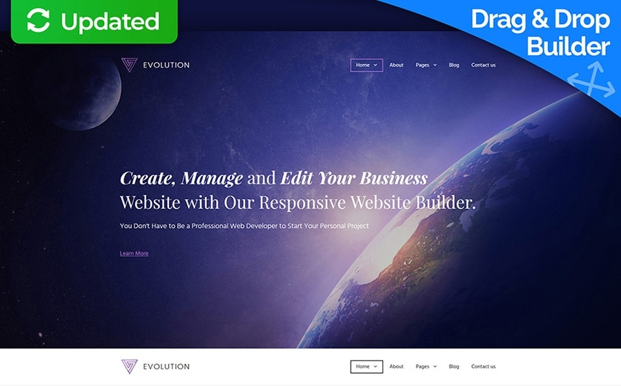 Evolution Website Template