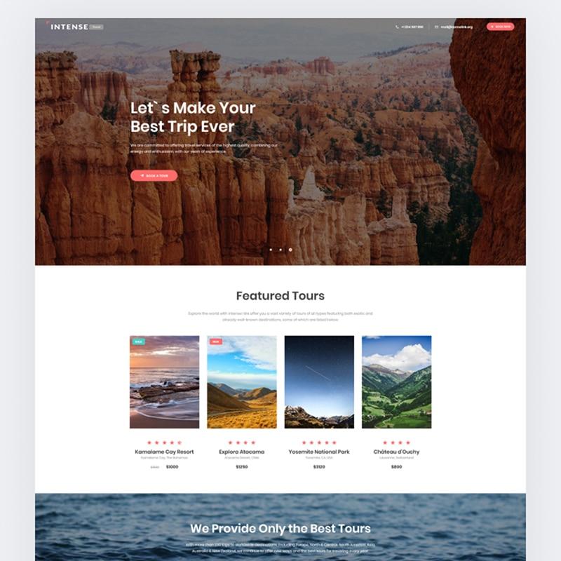 Intense Website Template