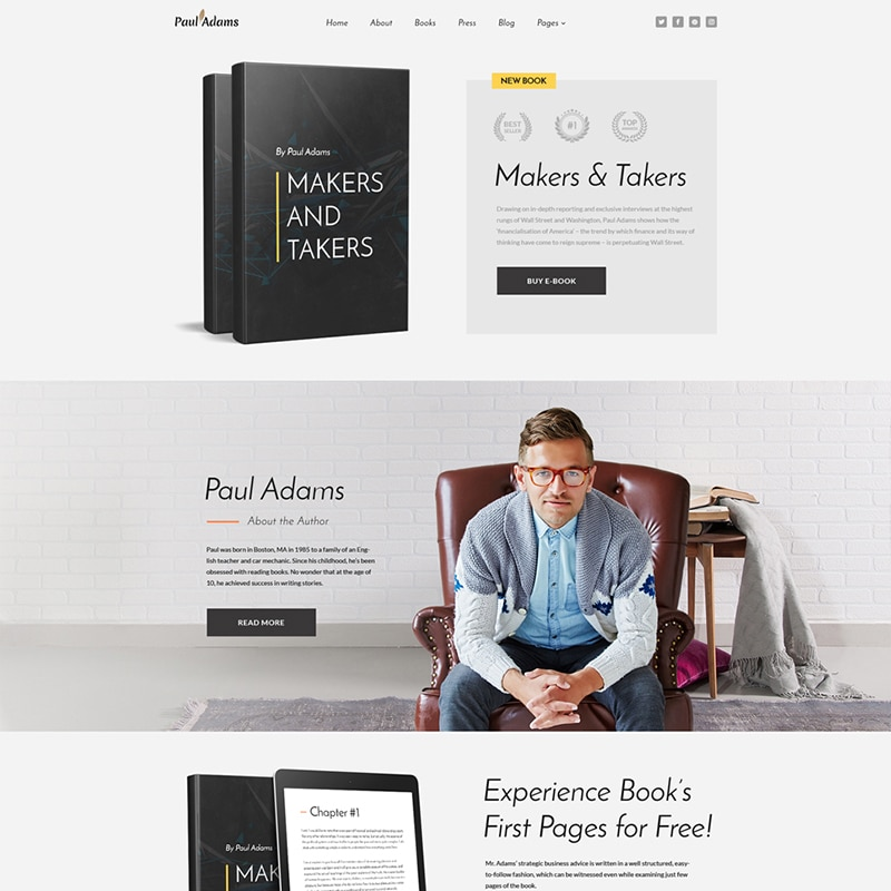 Paul Adams Website Template