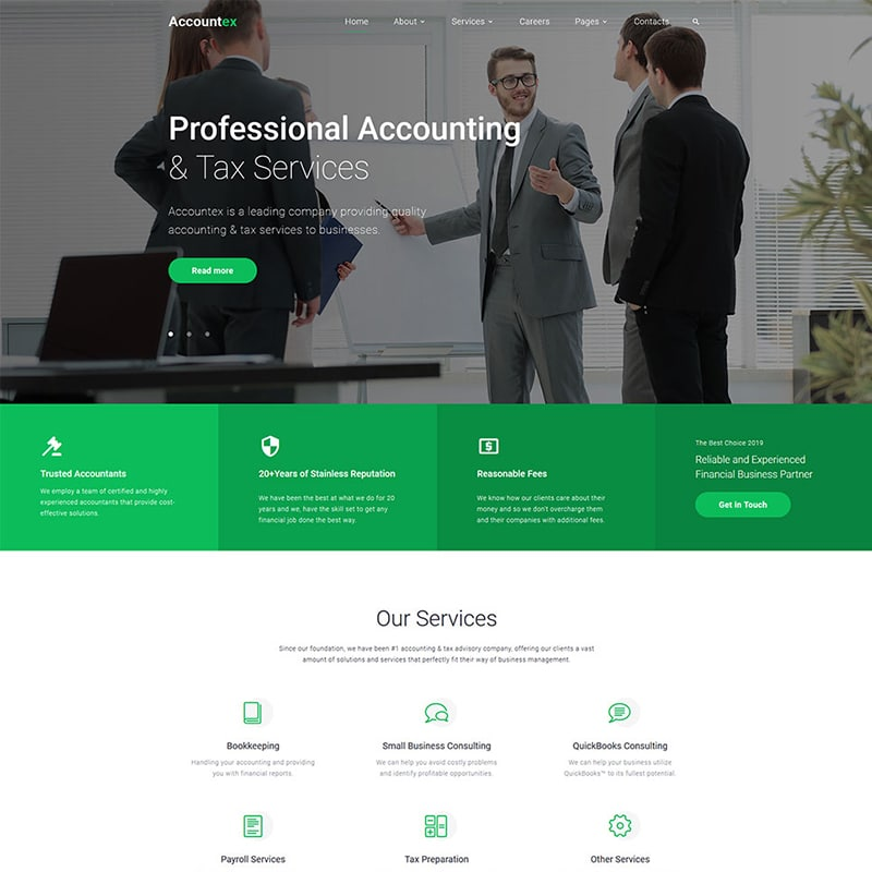Accountex Website Template