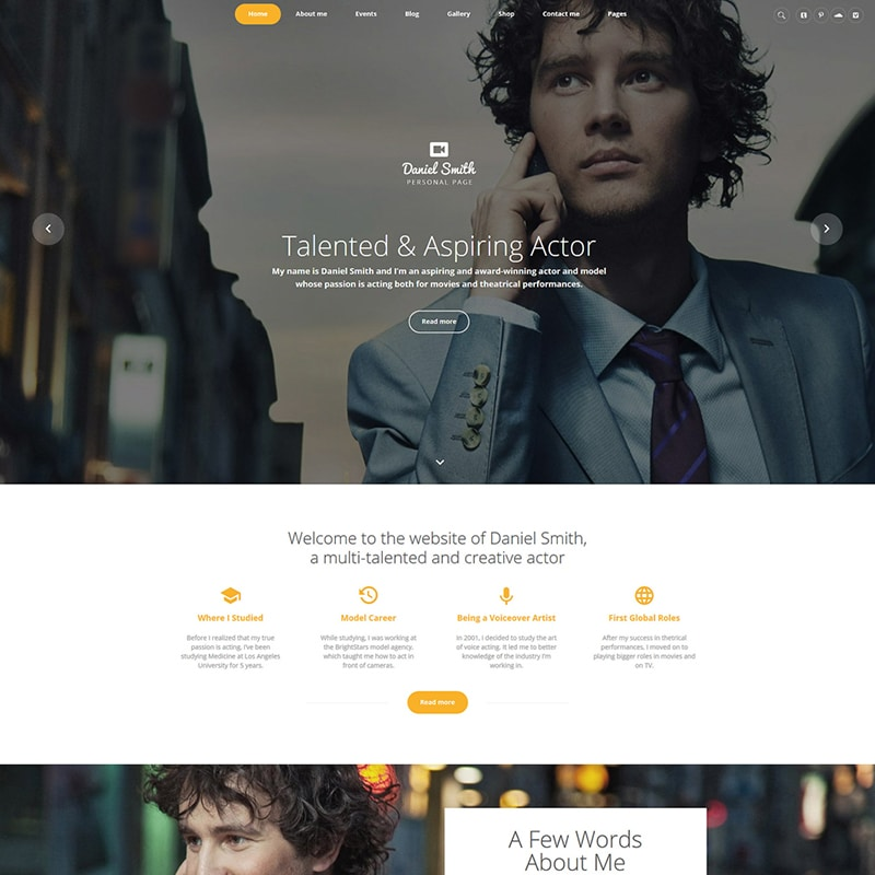 Daniel Smith Website Template