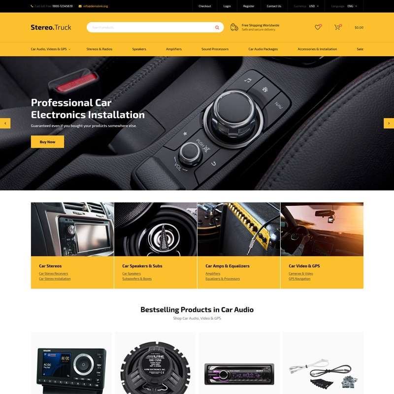 Stereo.Truck Website Template