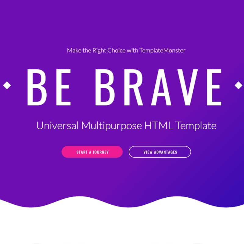 Brave Website Template