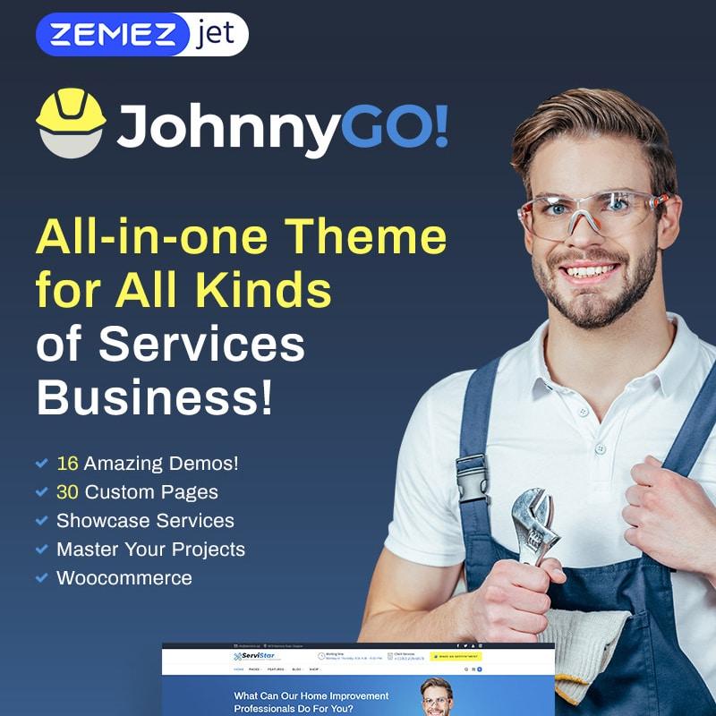 JohnnyGo Website Template