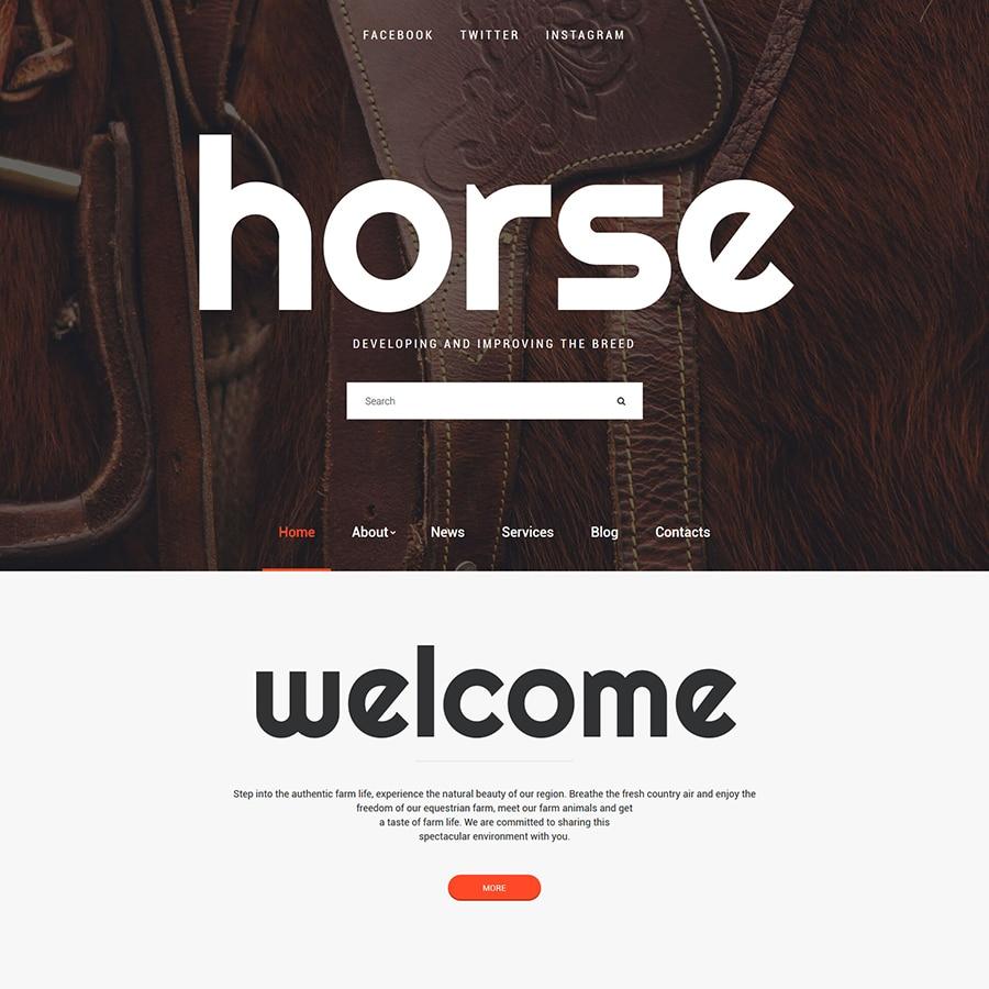 Horse Website Template Website Template