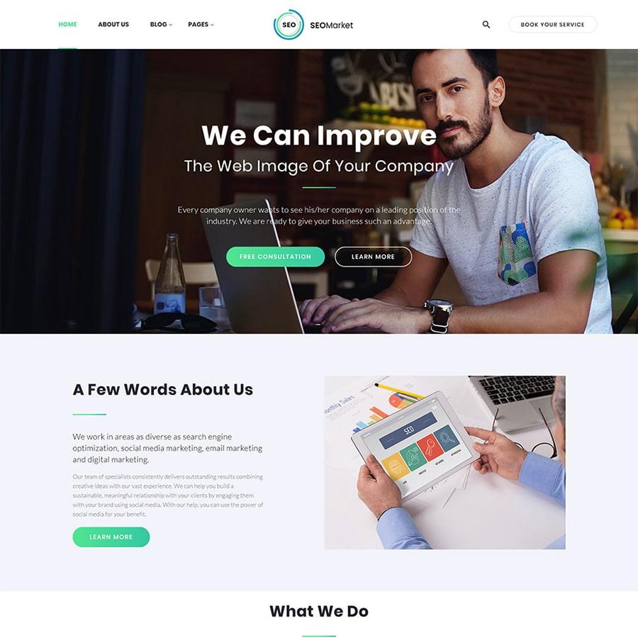 SEOMarket Website Template