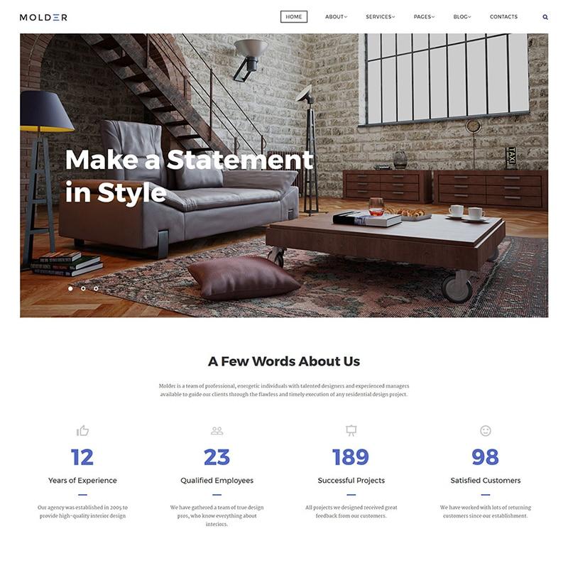Interior Design Company HTML Template Website Template