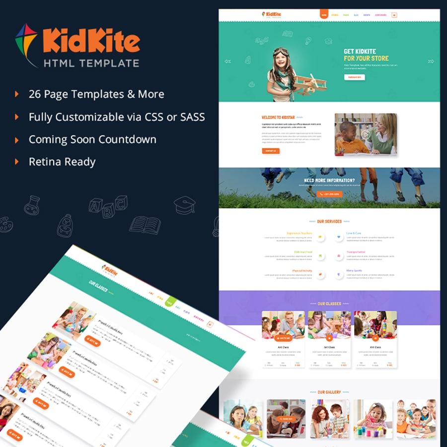 KidKite Website Template