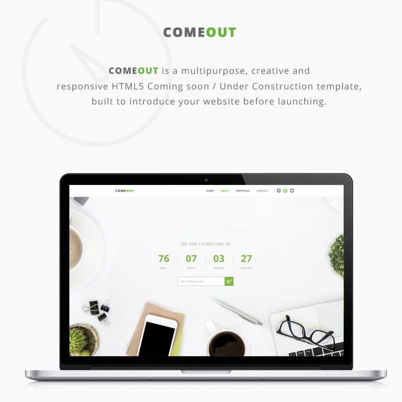 ComeOut  Website Template