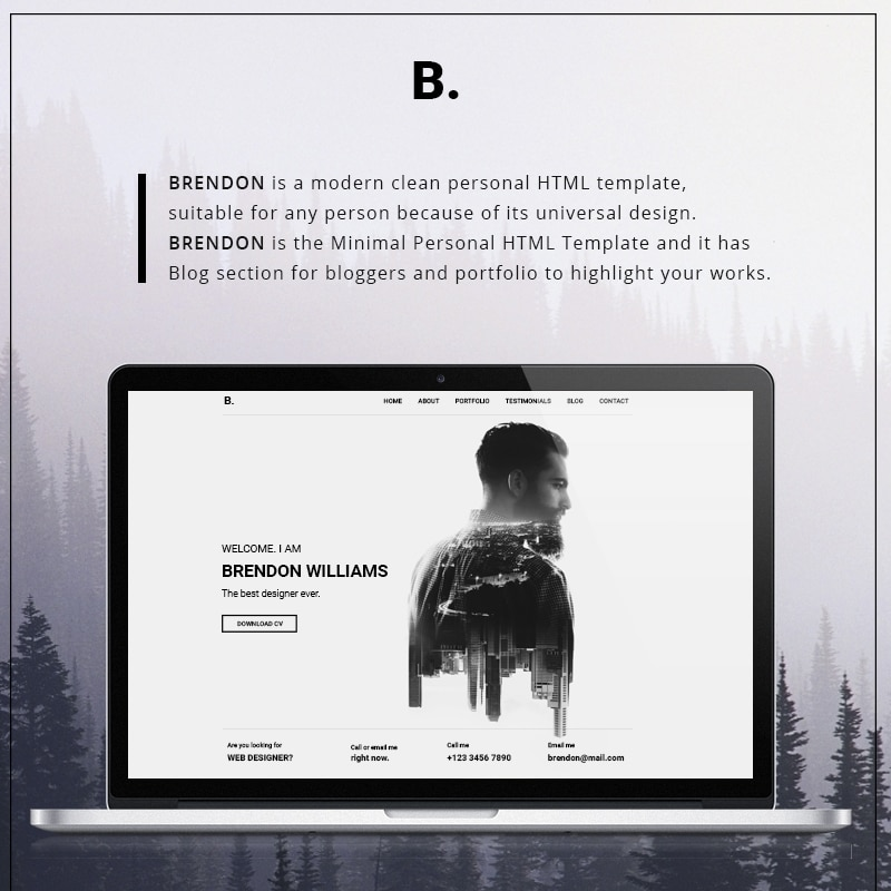 Brendon  Website Template