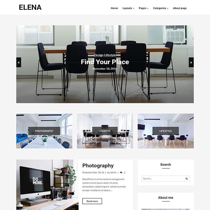 Elena Website Template