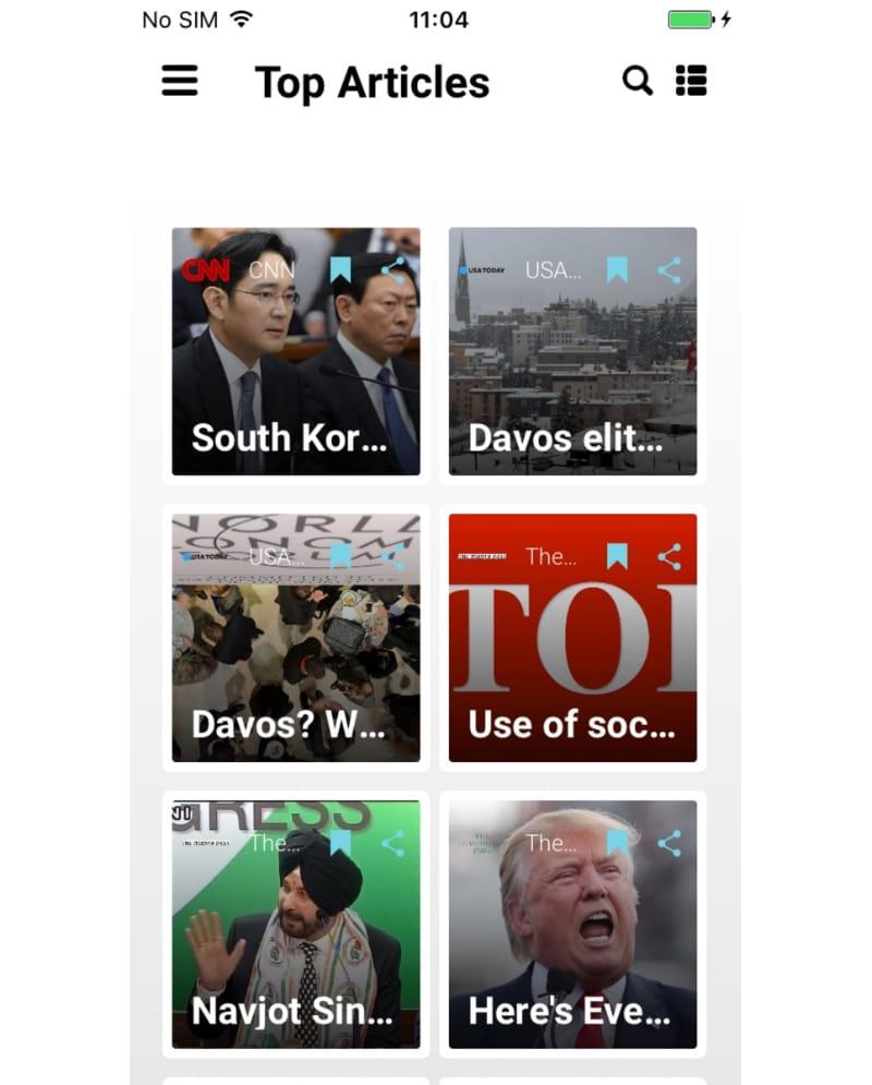 NewsAmp - Swift News App Template Website Template