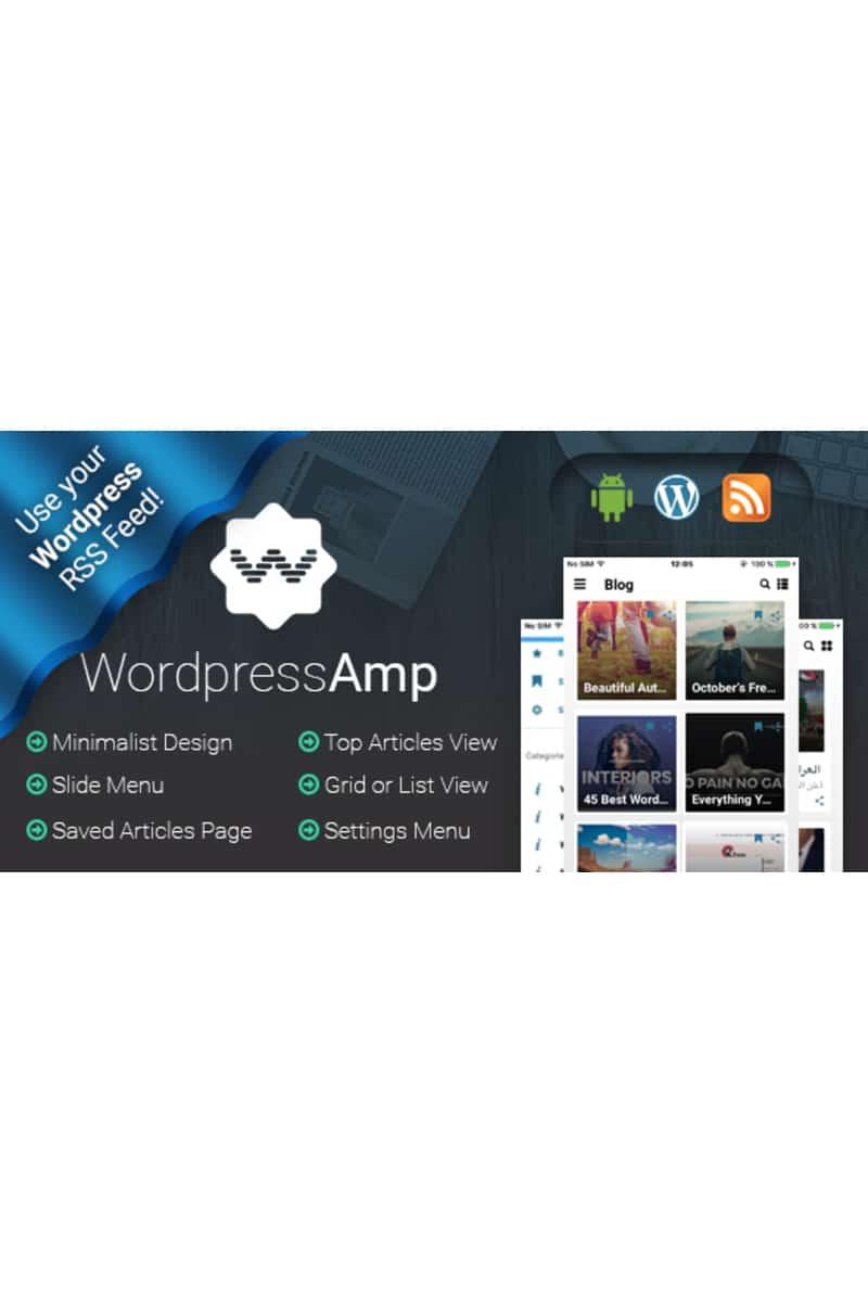 WordpressAmp - Android News App Template Website Template