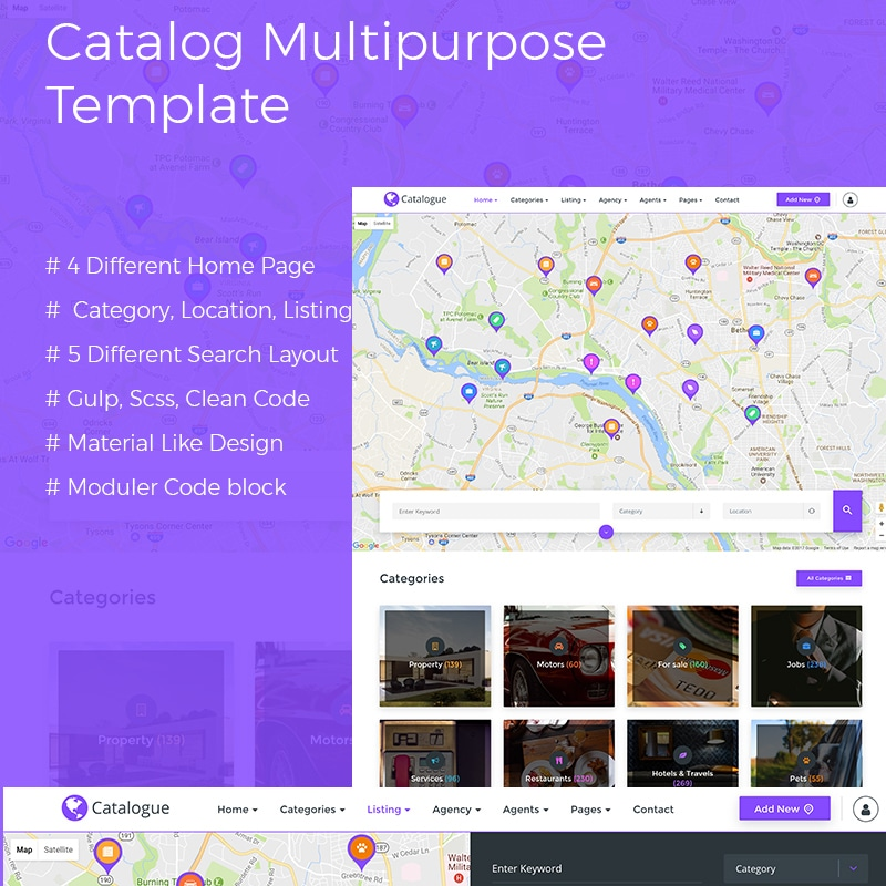 Catalog Multipurpose Directory Website Template Website Template