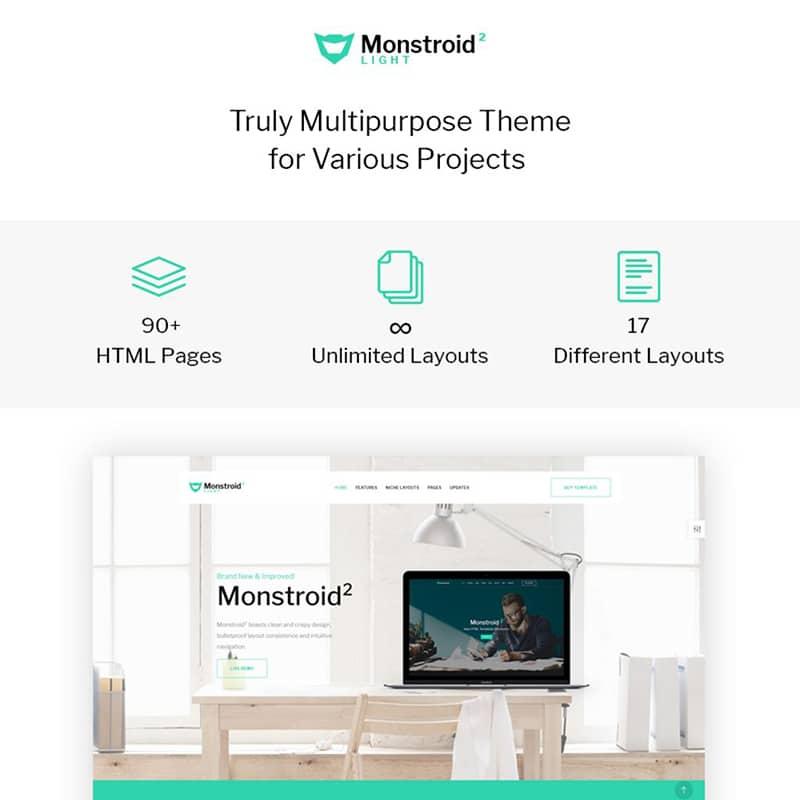 Monstroid2 Light Multipurpose Website Template Website Template