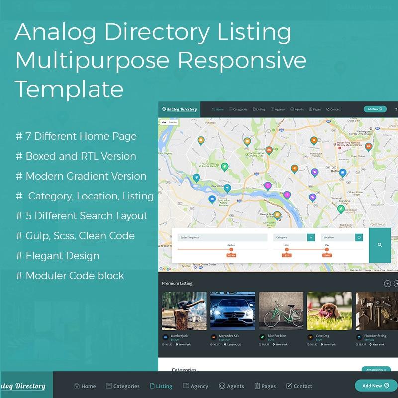 Analog Website Template