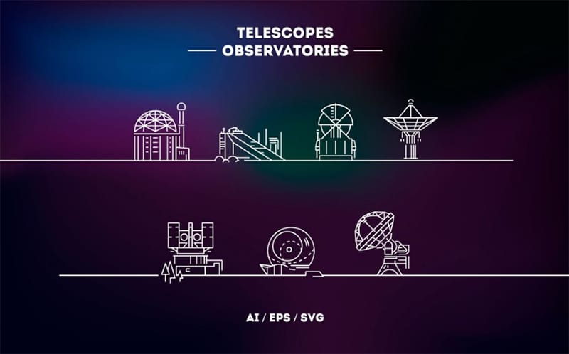 Telescopes Logos Website Template