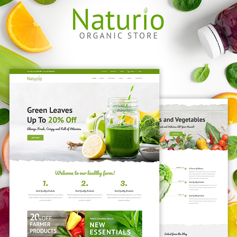 Naturio Website Template