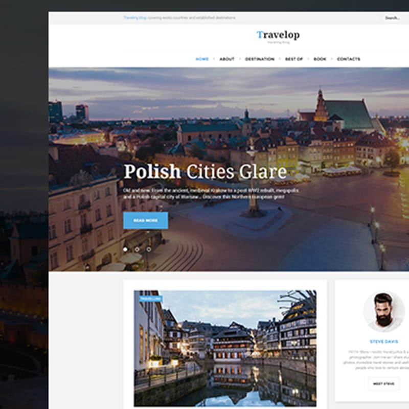 Travelop Lite [Free] Website Template